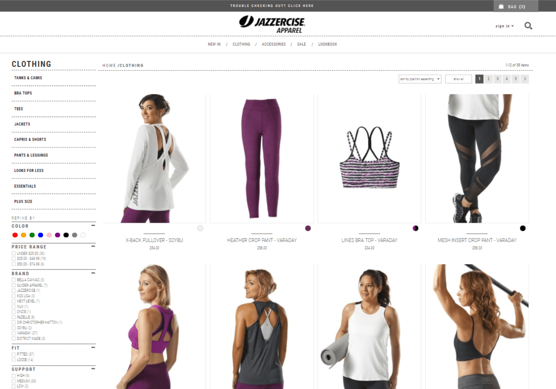 Jazzercise Apparel - Screenshot