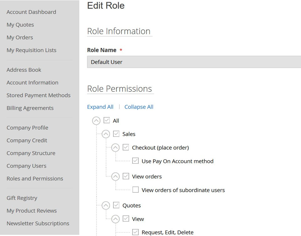 atmosol magento roles permissions